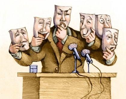 Politiker med mange ansikter