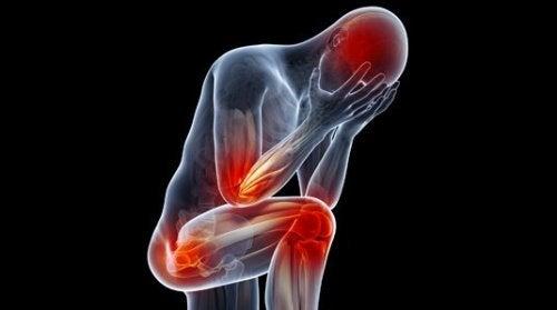 Menneskekroppen viser smerte i forskjellige områder