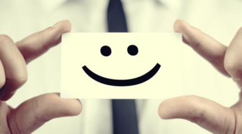 Smilefjes på et ark