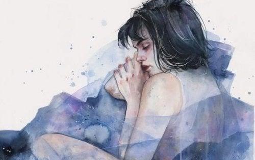Illustrasjon av en kvinne som sover.