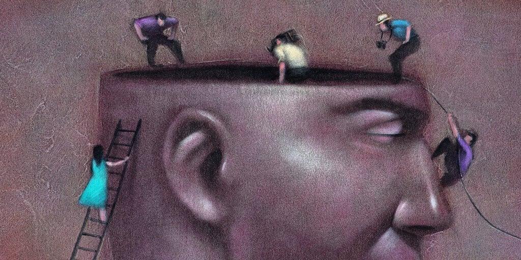 Personer inne i hode