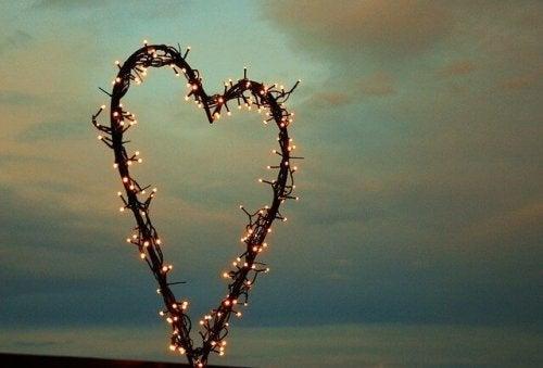 Hjerte av lys.