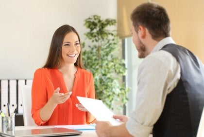kvinne på jobbintervju