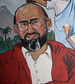 Et portrett av Martín-Baró viser at han smiler vennlig