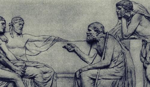 Sokrates og hans disipler - trippelfiltertest