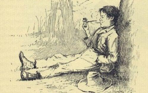 Illustrasjon av Huckleberry Finn-syndrom