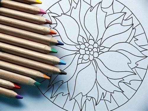 Fargeleging som kunstterapi.