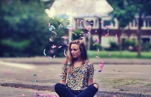 Jente med sky over hodet: Verdier som styrer våre liv