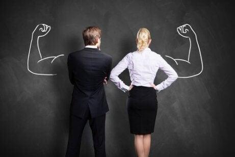 Et par foran et tavle med sterke armer - Ambisjonens to sider