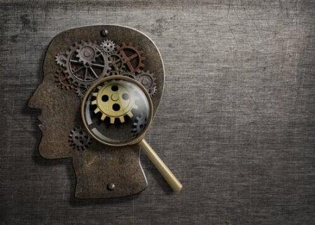 Tannhjul og indre virkninger av sinnet som representerer atferdsvitenskap