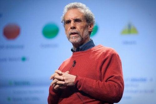 Daniel Goleman gir en presentasjon.
