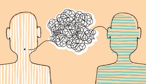 To figurer kommuniserer med hverandre.