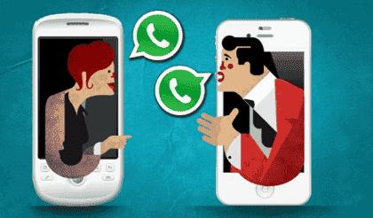 WhatsApp-paret: Å sende meldinger i forhold
