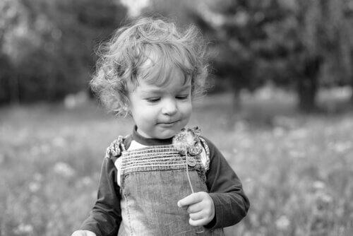Nysgjerrig liten gutt.