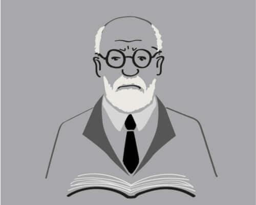 En tegneserie tegning av Freud.