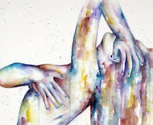 Maleri av kvinne