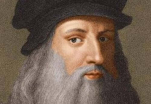Selvportrett av Leonardo da Vinci.