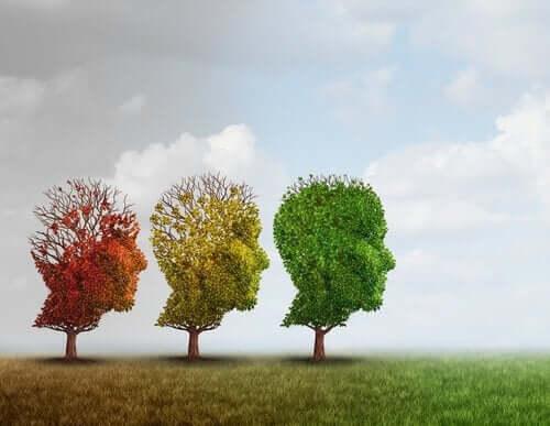 trær formet som hoder
