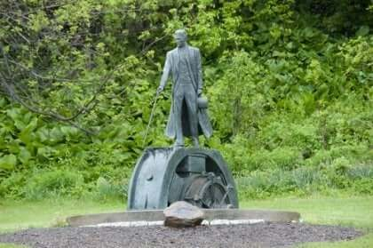 Statue av Nikola Tesla
