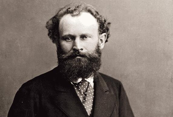 Et portrett av Édouard Manet som ser på kameraet.