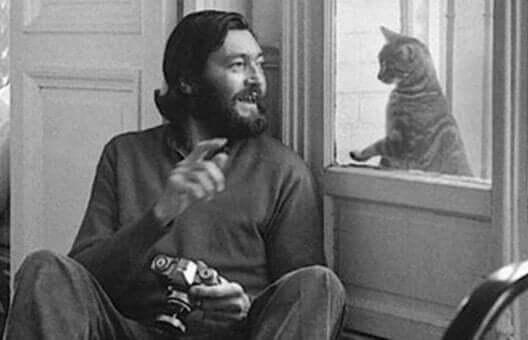 Julio Cortázar og en katt