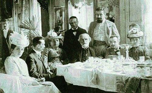 Giuseppe Verdi i et middagsselskap.