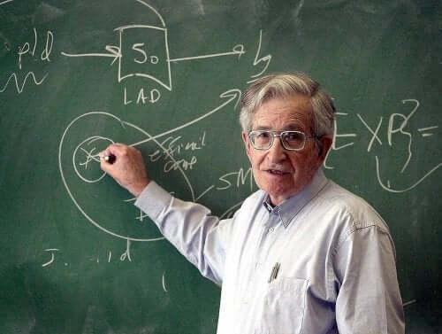 Noam Chomsky er en kjent teoretiker innen pedagogisk psykologi.