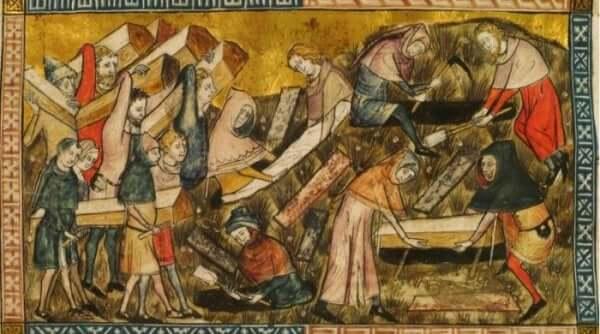 Massebegravelse på grunn av pesten