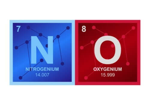 Gassen nitrogenoksid (NO).
