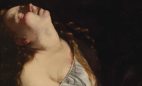 Et maleri av Artemisia i mørke farger.
