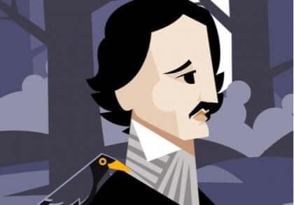 Et tegneseriebilde av Edgar Allan Poe.