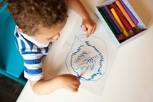 Er skribling barnas hemmelige språk?
