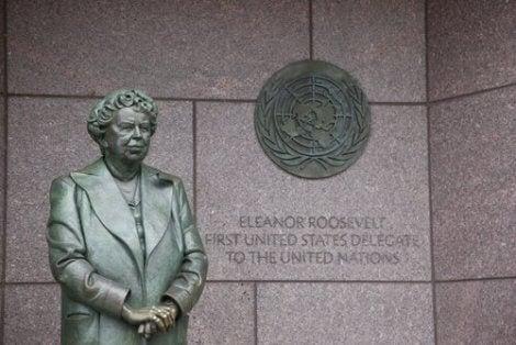 Statue av Eleanor Roosevelt