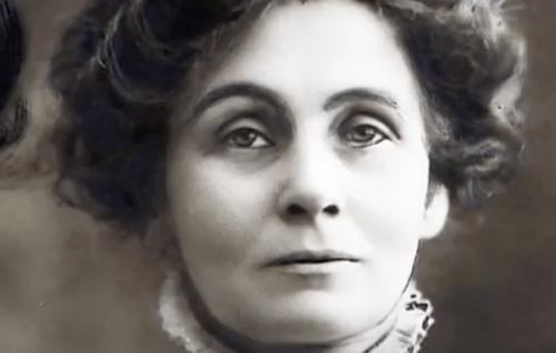 Fotografi av Emmeline Pankhurst.