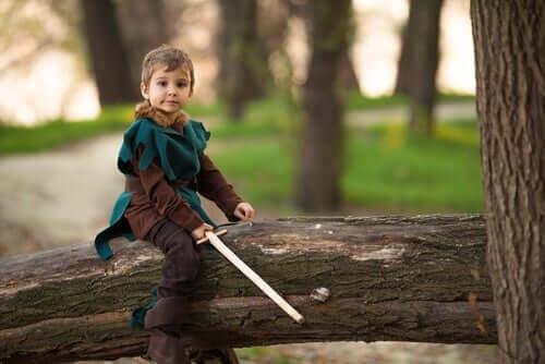 Legender for barn, som den om Robin Hood, lærer barn nyttige lærepenger.