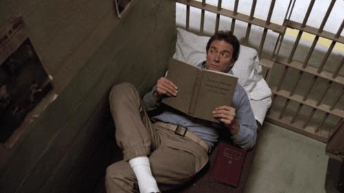 Scene i Flukten fra Alcatraz.
