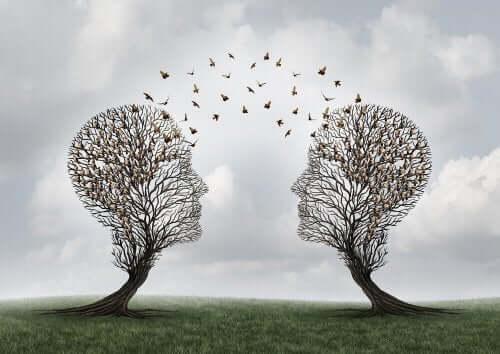 To trær som representerer språkets psykologi.