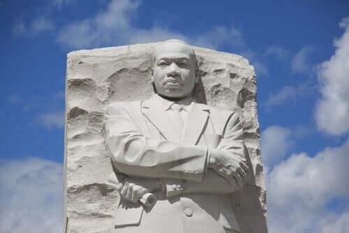 En byste av Martin Luther King Jr.