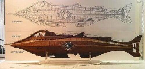 Plantegning for ubåt
