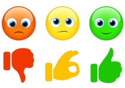 Emojier og trafikklysmetoden