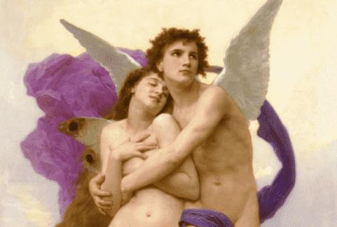 Maleri av Amor og Psyche
