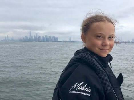 Greta Thunberg valgt å seile til klimakonferansen i New York i 2019.