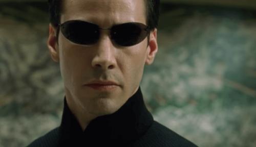 Keanu Reeves som Neo i filmen The Matrix