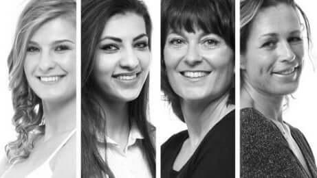 fire bilder av kvinner