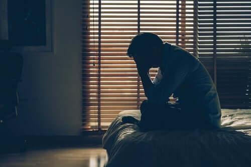 Mann med psykofysiologiske lidelser.