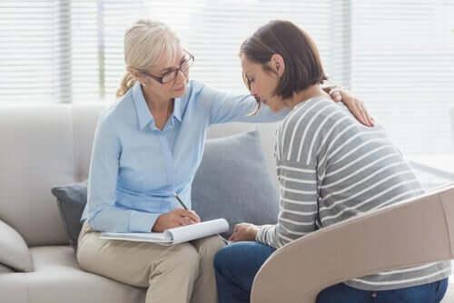 En psykolog og en pasient