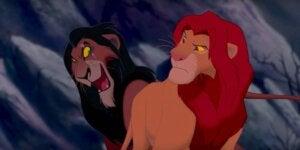 Bildet av løvene Scar og Mufasa fra Løvenes Konge