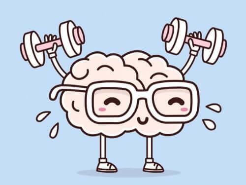En hjerne som trener.