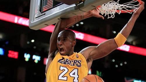 Kobe Bryant på banen.
