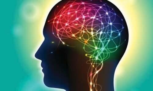 Disse fargerike stiene representerer aktivitet i hjernen din.